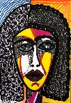 Mirit Ben-Nun - abstract art drawing  face  out of  woman