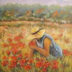 Francoise Galland - the field from  Poppies in