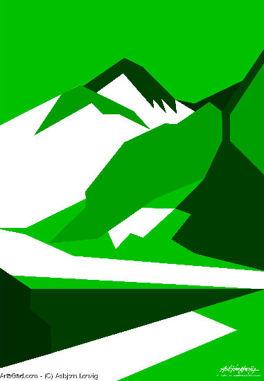 Artwork >> Asbjorn Lonvig >> Everest Green