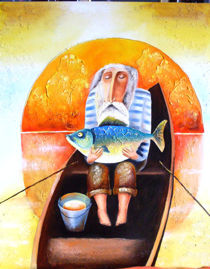 Artwork >> Юлия Ионова >> 'The Old Man and the Sea'
