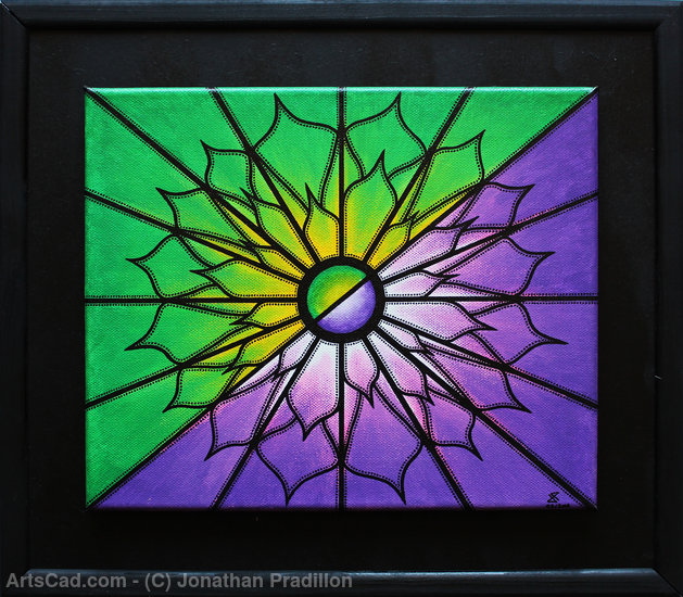 Artwork >> Jonathan Pradillon >> Purple and Green