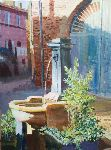 Claude Arcambal - Fountain at of the quay St Jacob