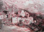 Heritier-Marrida - CORSICAN LANDSCAPE INKS CHINA PENCIL AND MONTEMAGGIORE