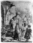 James Stow - Rembrandt -Abraham Casting out Hagar and Ishmael - Etching