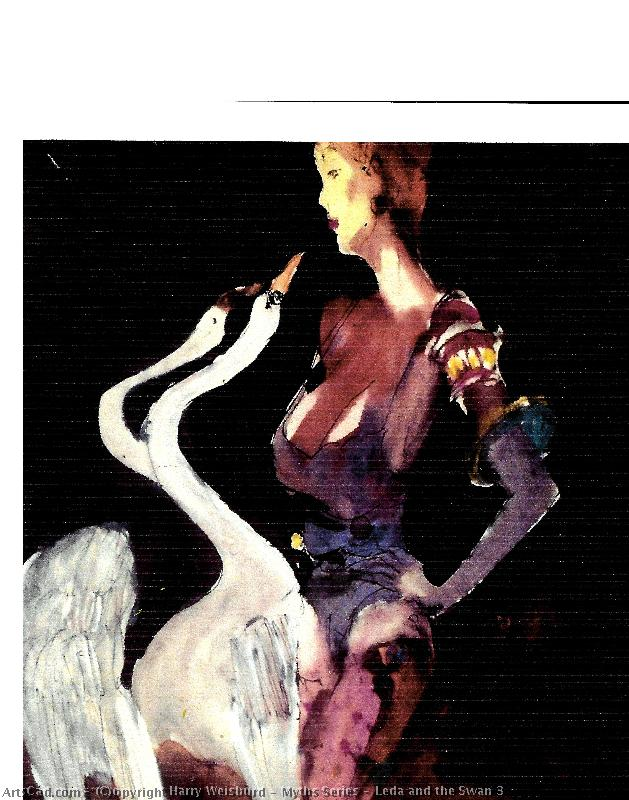 Artwork >> Harry Weisburd >> Myths Series : Leda and the Swan 3