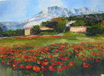 Jaune Indigo - Poppies at there holy Victory sold