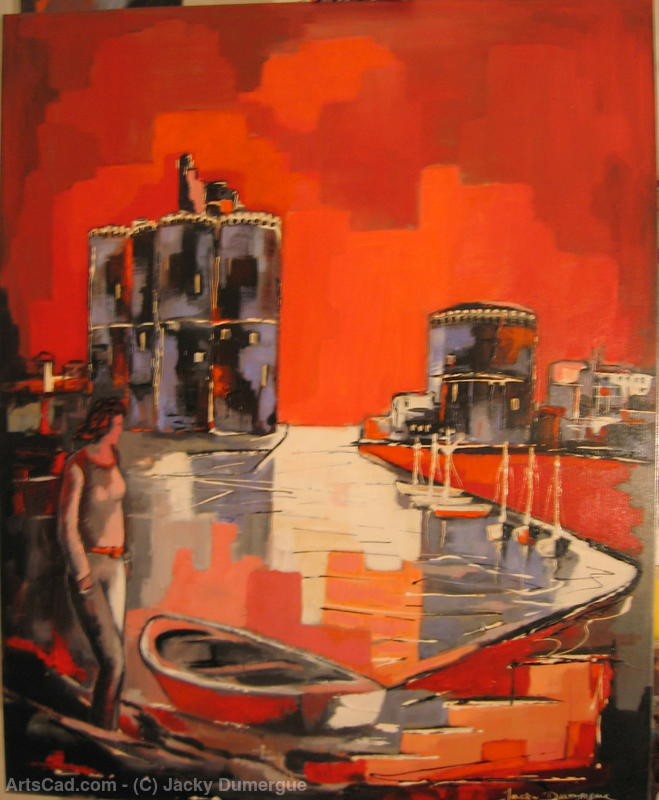 Artwork >> Jacky Dumergue >> The towers of La Rochelle