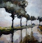 Pierre Vanmansart - Road under there  rain