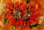 Natalya Zhdanova - abstract sunflowers painting , sunflowers art painting on paper , modern sunflowerbbouquet painting acrylic abstract