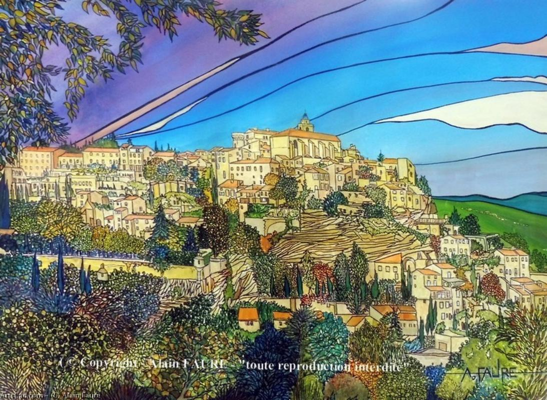 Artwork >> Alain Faure >> GORDES IN AUTUMN