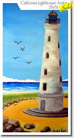 Artwork >> André Kock >> California Lighthouse Aruba