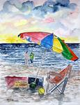 Derek Mccrea - Clearwater Florida beach painting