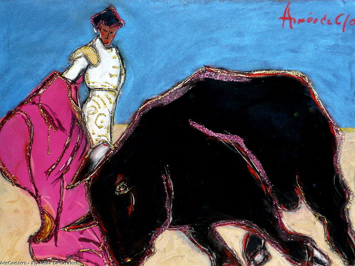 Artwork >> Aimée De Courtozé >> bullfight