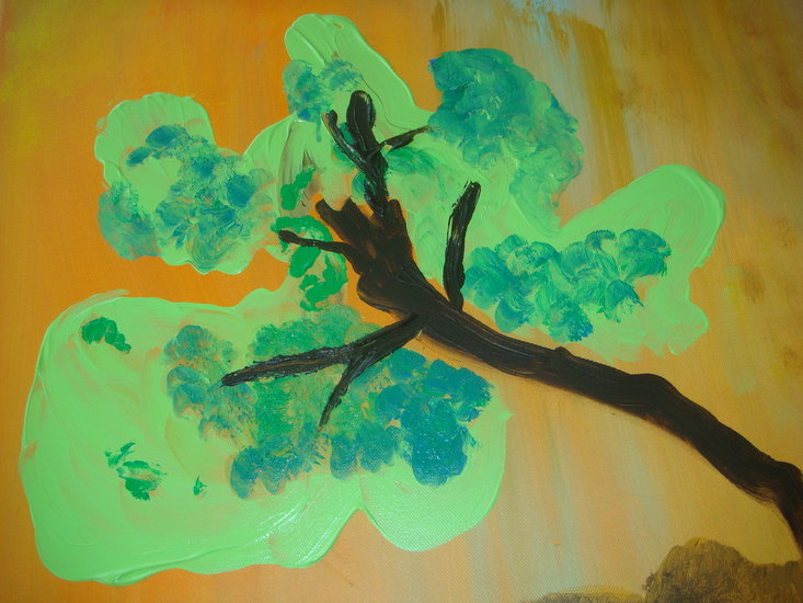 Artwork >> Bicard Wable >> The tree looked