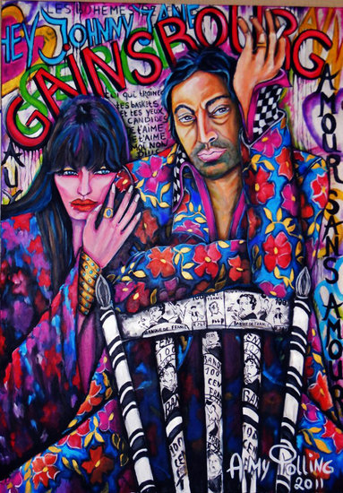 Artwork >> Amy Polling >> HOMMAGE À SERGE GAINSBOURG