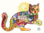 Oxana Zaika - cat SOLD.