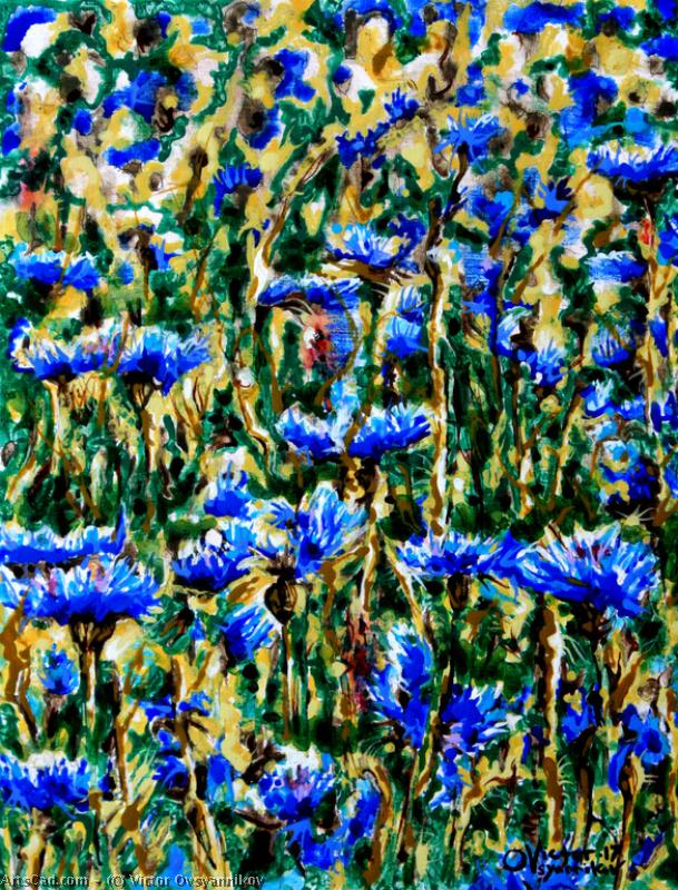 Artwork >> Victor Ovsyannikov >> Cornflowers