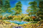 Natalya Zhdanova - summer mirage original oil painting Landscape