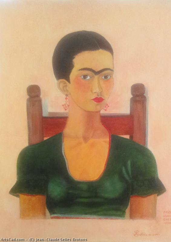 Artwork >> Jean-Claude Selles Brotons >> frida kahlo artist  Mexican woman