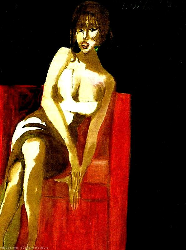 Artwork >> Harry Weisburd >> The Red Chair