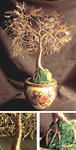 Sal Villano Wire Tree Sculpture - Asian Gold Leaves
