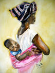 Inspirational Paintings - MALAWIAN MOTHER