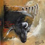 Karine Brailly Artiste Peintre - coming right of the  bull
