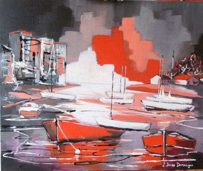 Artwork >> Jacky Dumergue >> Moored in the dock