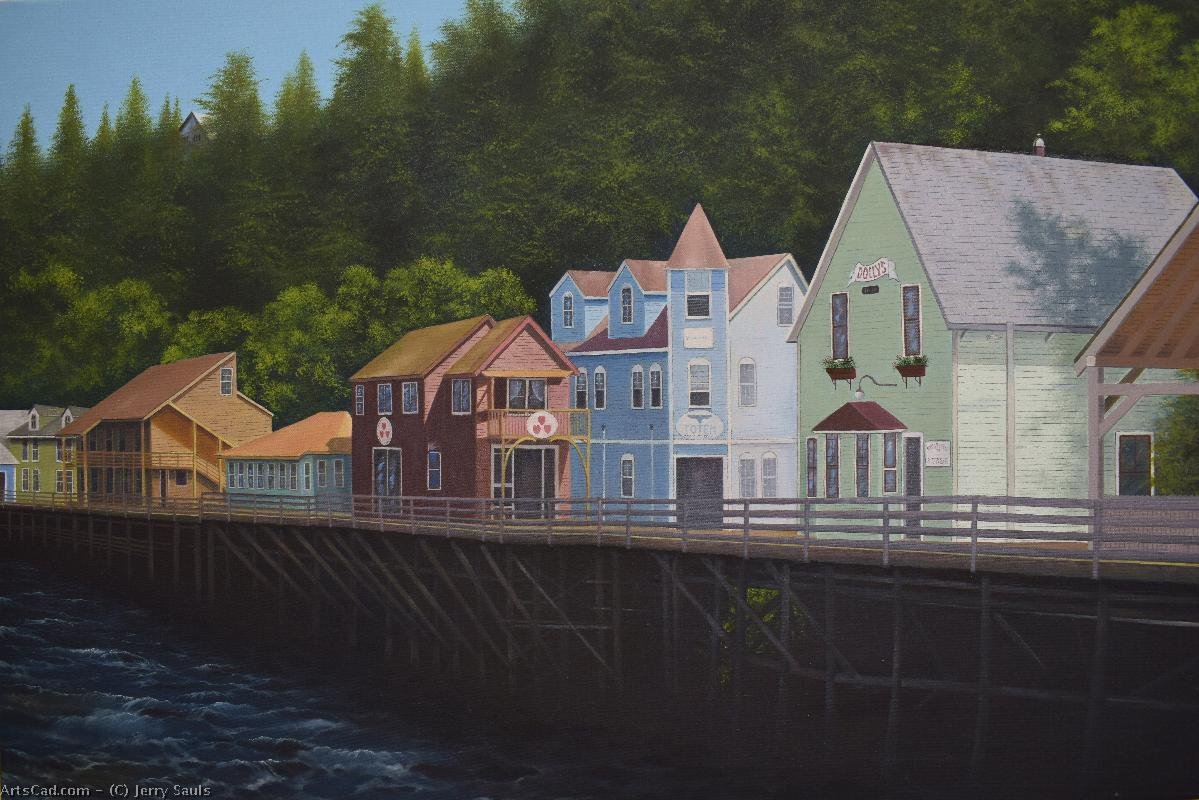 Artwork >> Jerry Sauls >> Ketchikan's Creek Street