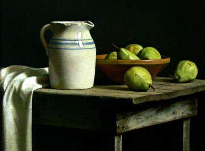 Artwork >> Keith Murray >> Old Crock with Pears