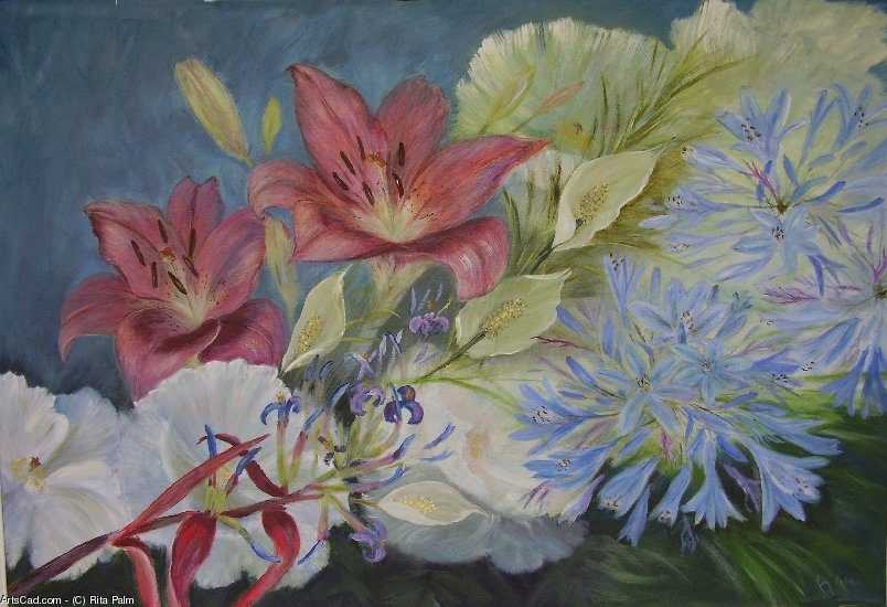 Artwork >> Rita Palm >> Summer Blooms