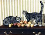 Christiane Charlier - the cats the  Apples
