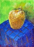 Ahmedov Zakir - Apple2014year15x11in original painting oil on canvas 1500$