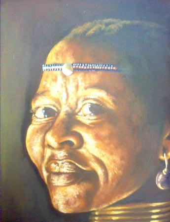Artwork >> Berthold Moyo >> ndebele woman