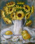 Sonia Jacka - Sunflowers and Oranges