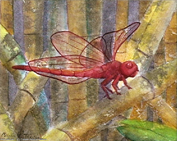 Artwork >> Colleen Patricia Williams >> Red Dragonfly