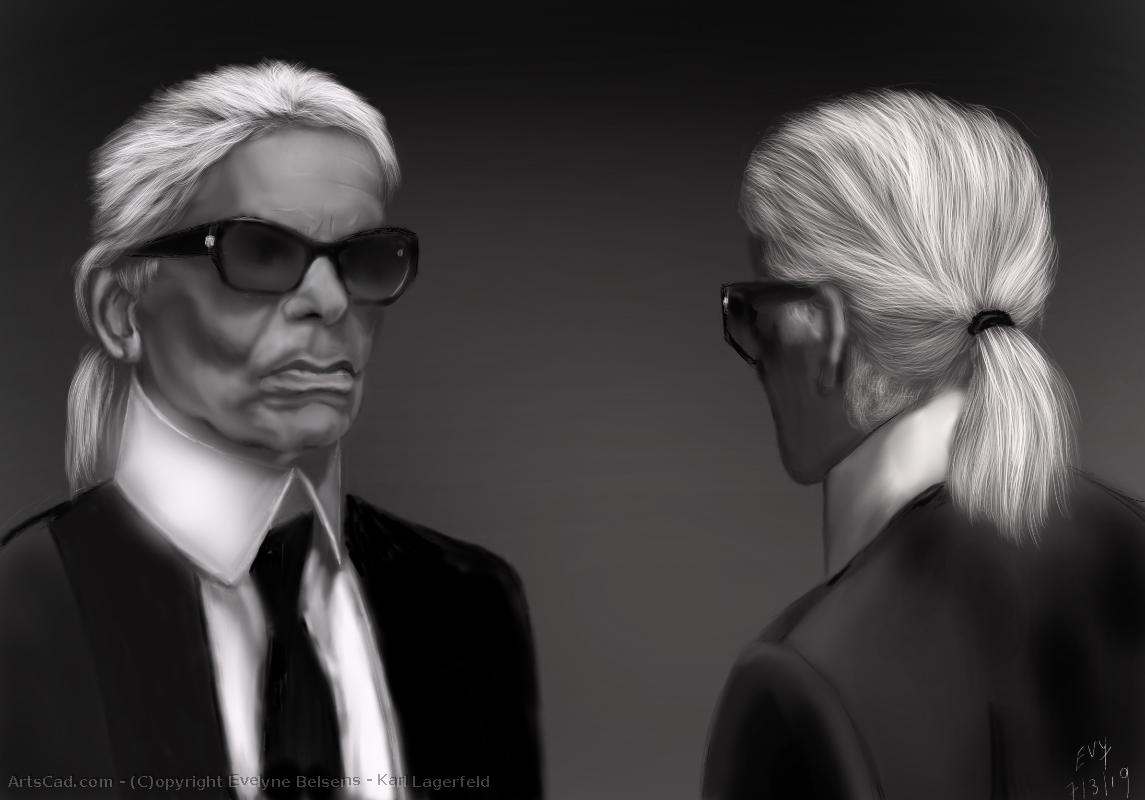 Artwork >> Evelyne Belsens >> karl lagerfeld