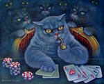 Светлана Кисляченко Jam-Art - Cat playing poker