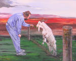Sylvia Kula - Man and a Goat. NOT FOR SALE.