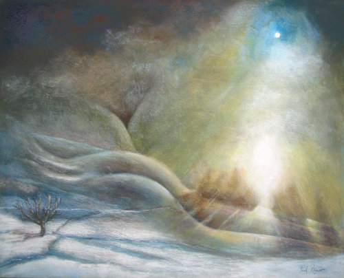 Artwork >> Paul Regnier >> Mist on there  snow