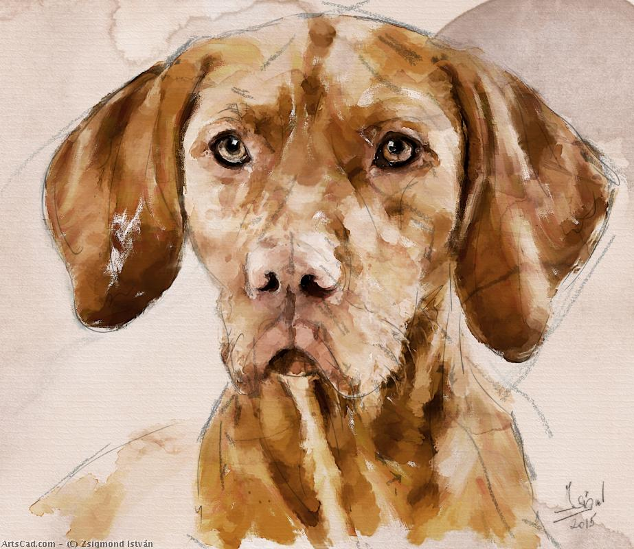 Artwork >> Zsigmond István >> Hungarian Short-haired Pointing Dog