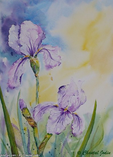 Artwork >> Chantal Jodin >> Iris garden