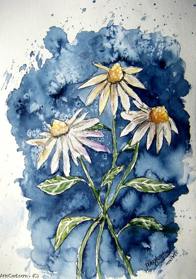 Artwork >> Derek Mccrea >> 3 daisies