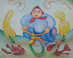 Jan Chlpka - Woman on Bike