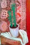 Ahmedov Zakir - Cactus . 2017 year original painting oil on Canvas 50 x 35 cm . 1500$