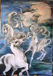 Baruch Neria-Kandel - Horses and moon