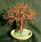 Sal Villano Wire Tree Sculpture - Elm on Terra Cotta Base, Wire Tree Sculpture