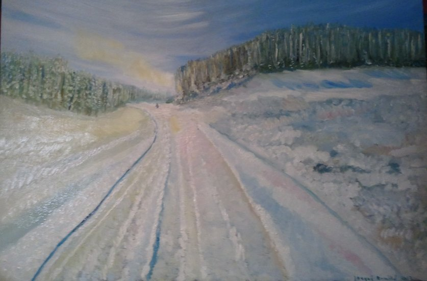 Artwork >> Pasqui R >> The white road