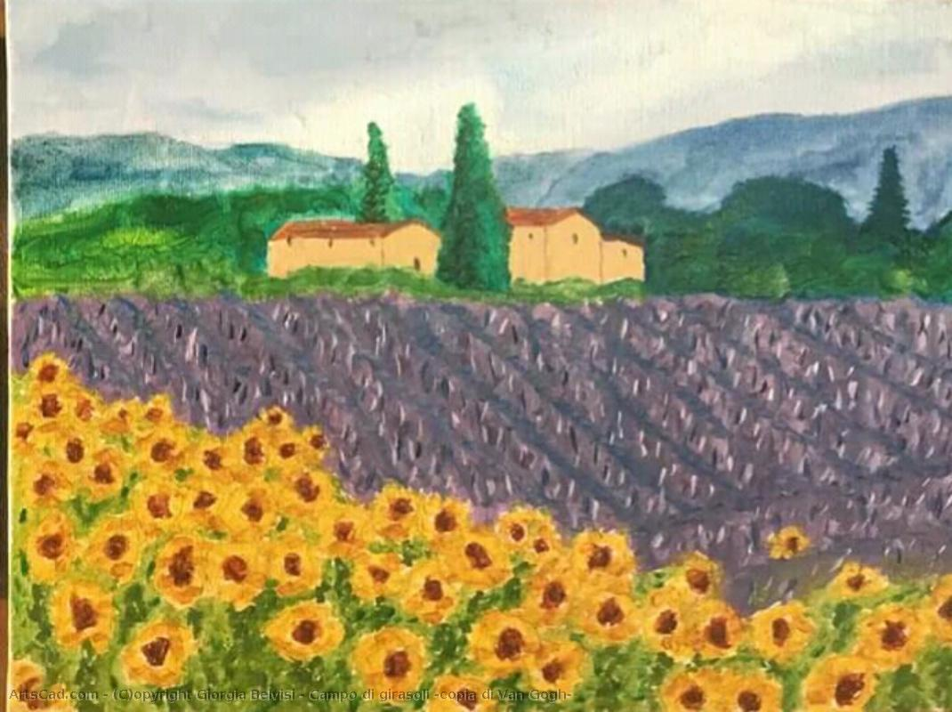 Artwork >> Giorgia Belvisi >> Field of sunflowers ( copy of van gogh )