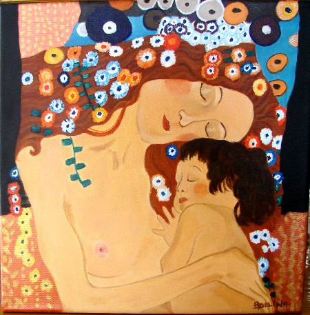 Artwork >> Adélina Art >> mother up and  The Kid